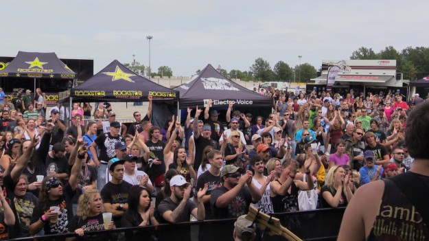 Crowd shot with TROY at Rockstar Uproar Festival in 2014.