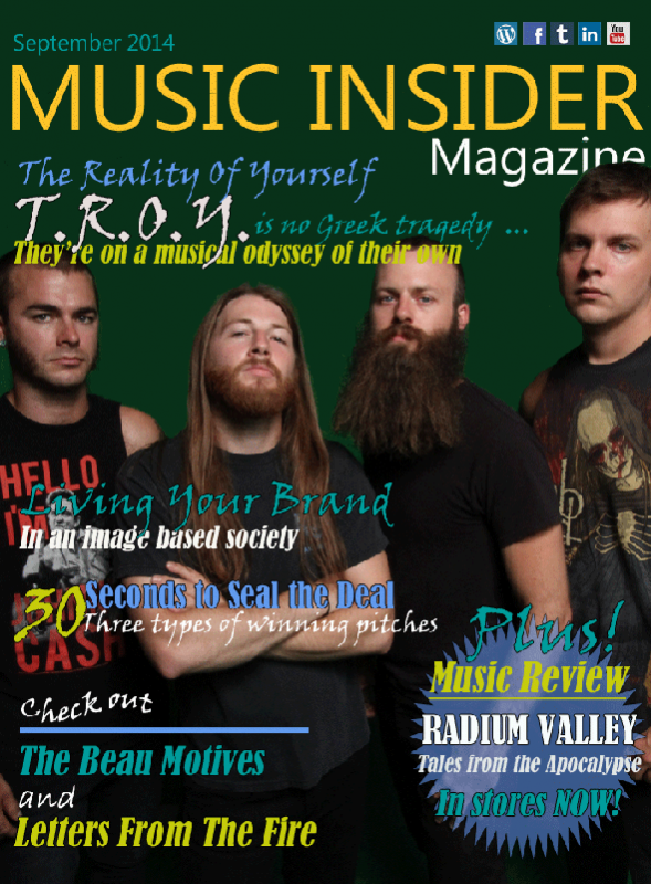 Music Insider Magazine features Rock Artist TROY in September 2014 Issue.