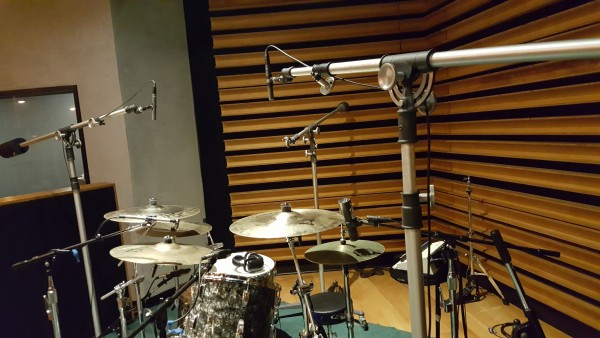Erik's Drum Set-Up at NRG Studios with TROY