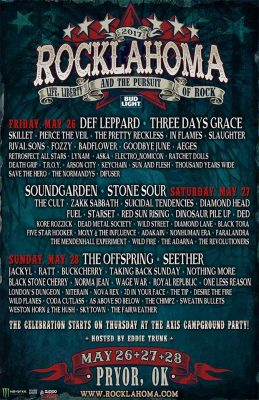 Rocklahoma Lineup 2017. ROK 2017 w/ TROY