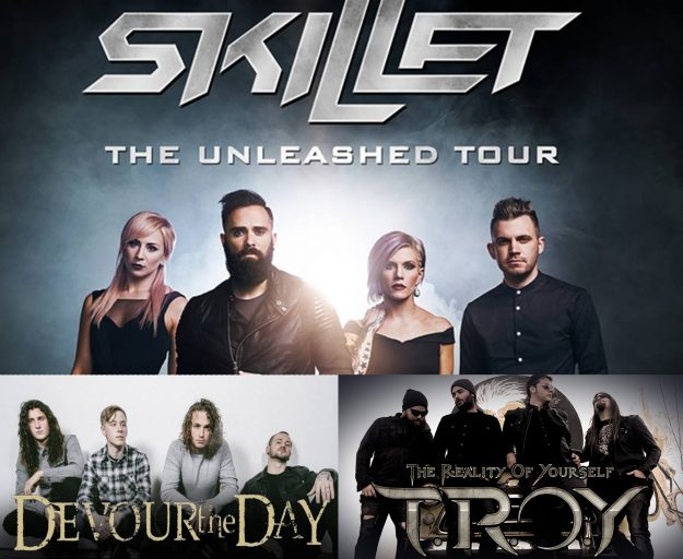 TROY Joins Skillet and Devour the Day on the Unleashed Tour in Memphis, Orlando and Atlanta. June 6th, June 8th, June 9th, 2017.